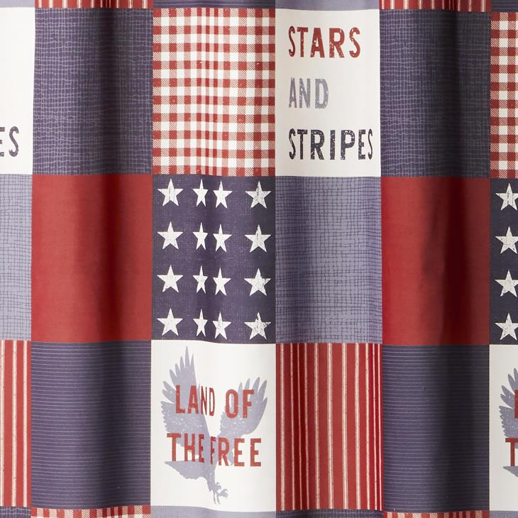 Picture of Americana Patchwork Fabric Shower Curtain