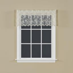 "Image of Petite Fleur 14"" Window Valance in Ivory"