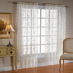 "Image of Petite Fleur 63"" Window Panel in White"