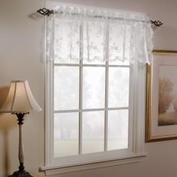 "Image of Petite Fleur 14"" Window Valance in White"