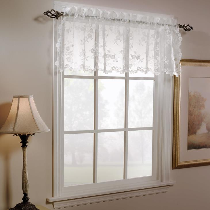 "Picture of Petite Fleur 14"" Window Valance in White"