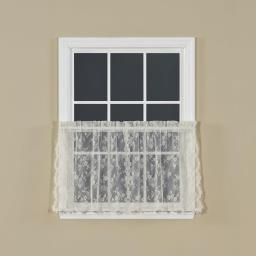 "Image of Petite Fleur 36"" Window Tier Pair in Ivory"