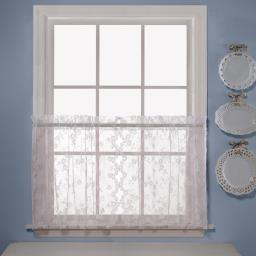 "Image of Petite Fleur 36"" Window Tier Pair in White"