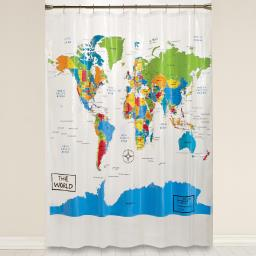 Image of The World PEVA Shower Curtain