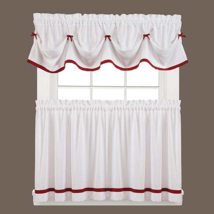 "Picture of Kate 13"" Window Valance in Berry"