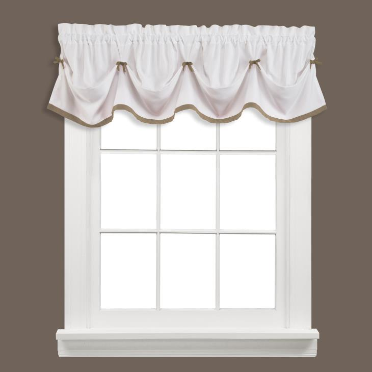 "Picture of Kate 13"" Window Valance in Taupe"