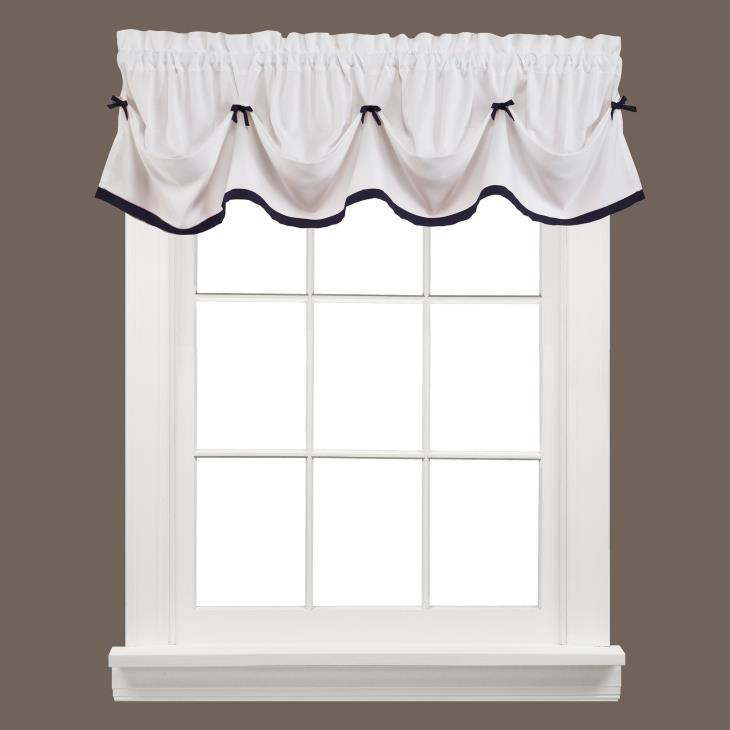 "Picture of Kate 13"" Window Valance in Black"