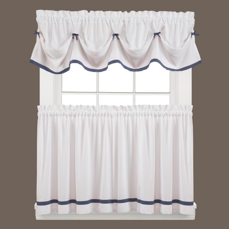 "Picture of Kate 13"" Window Valance in Blue"