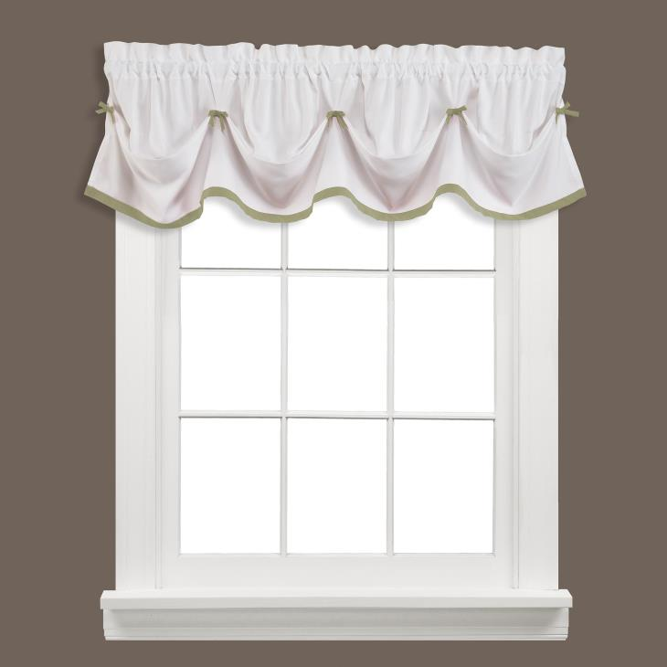 "Picture of Kate 13"" Window Valance in Sage"