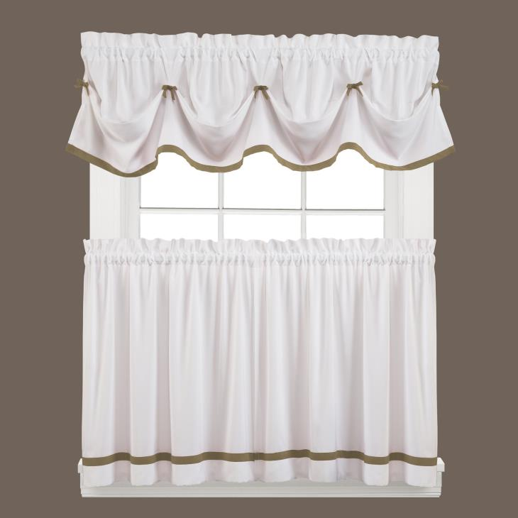 "Picture of Kate 24"" Window Tier Pair in Taupe"