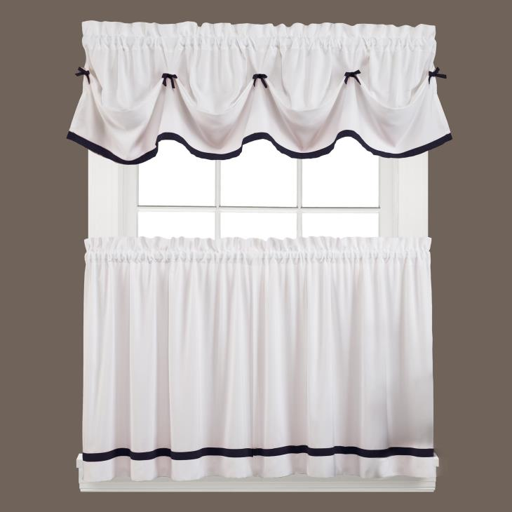 "Picture of Kate 36"" Window Tier Pair in Black"