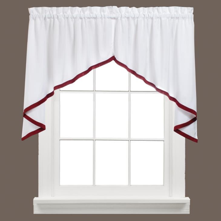 "Picture of Kate 28"" Window Swag Pair in Berry"