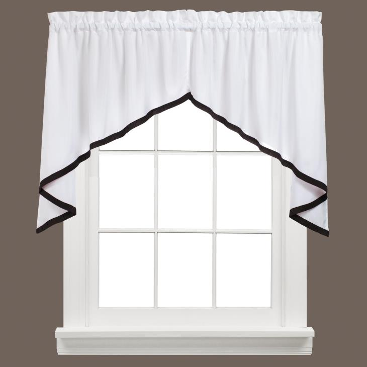 "Picture of Kate 28"" Window Swag Pair in Black"
