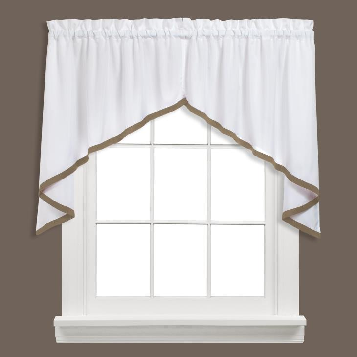 "Picture of Kate 28"" Window Swag Pair in Taupe"