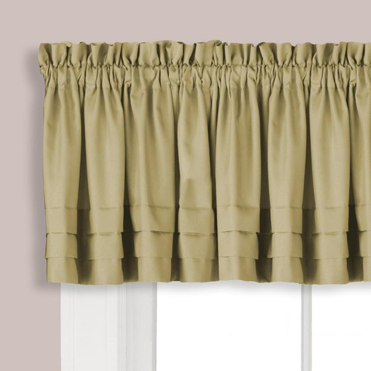 "Picture of Holden 13"" Window Valance in Khaki"