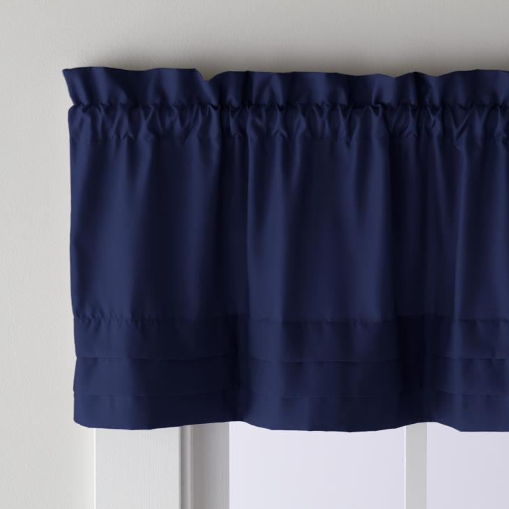 "Picture of Holden 13"" Window Valance in Navy"