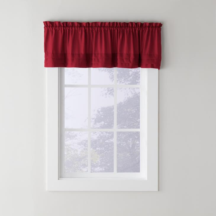 "Picture of Holden 13"" Window Valance in Garnet"