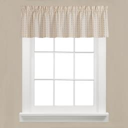 "Image of Hopscotch 13"" Window Valance in Neutral"