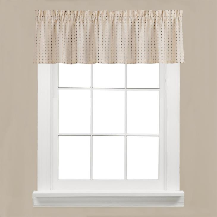 "Picture of Hopscotch 13"" Window Valance in Neutral"