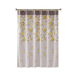 Image of Spring Garden Floral Fabric Shower Curtain