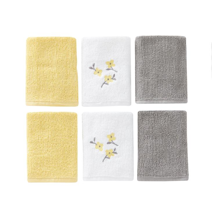 Picture of Spring Garden Floral 6pc Wash Cloth Set