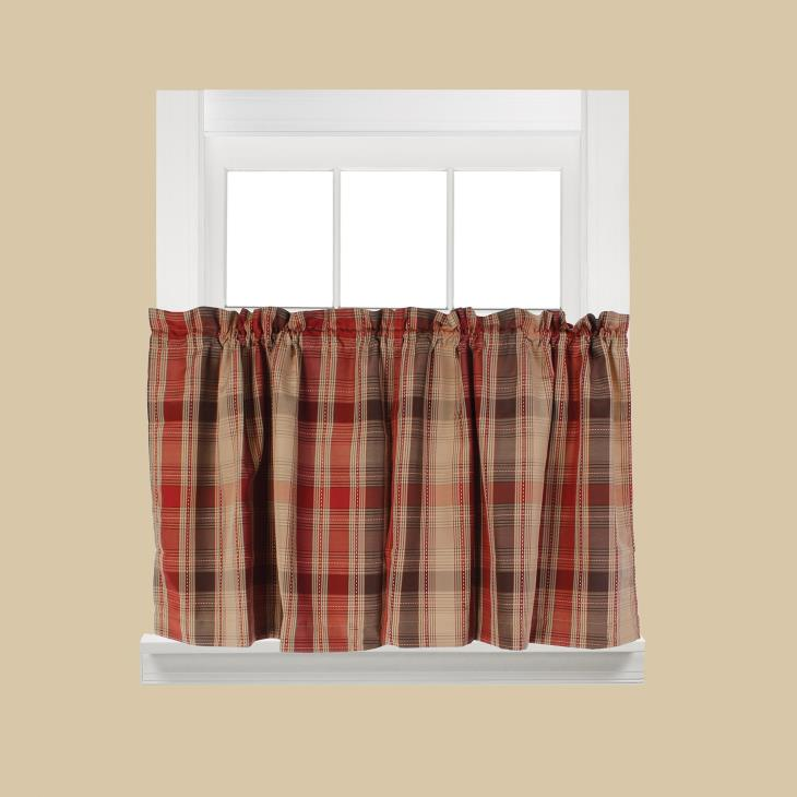 "Picture of Cooper 36"" Window Tier Pair in Red"