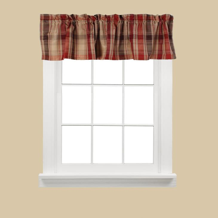 "Picture of Cooper 13"" Window Valance in Red"
