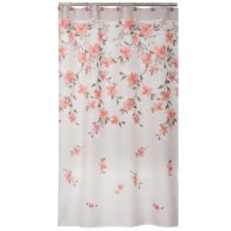 Image of Coral Garden Floral Shower Curtain