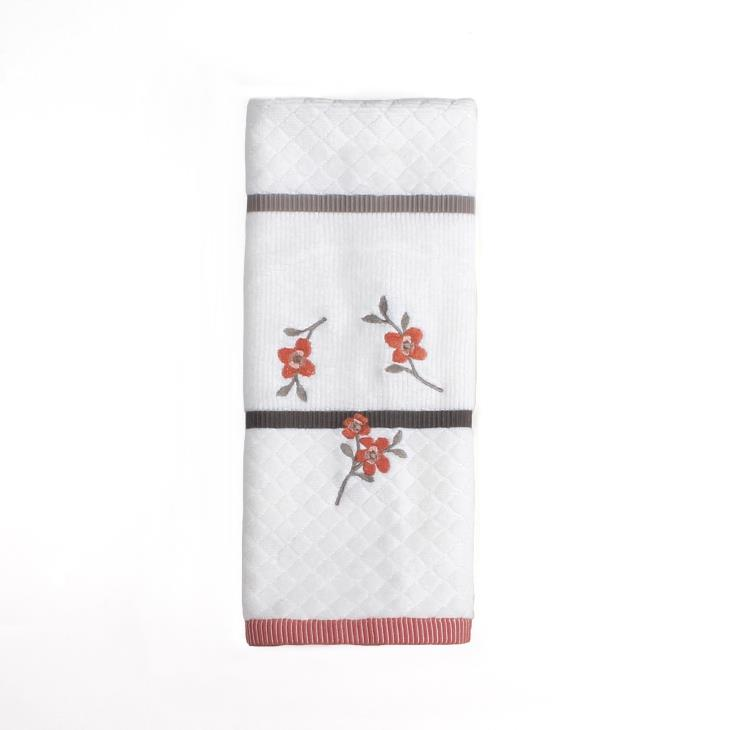 Picture of Coral Garden Floral Hand Towel in Ivory