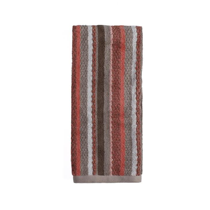 Picture of Coral Garden Stripe Hand Towel in Coral