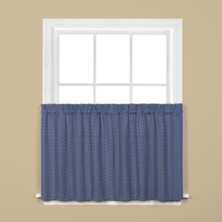 "Picture of Hopscotch 36"" Window Tier Pair in Denim"