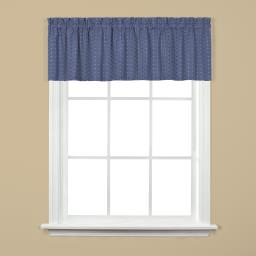 "Image of Hopscotch 13"" Window Valance in Denim"