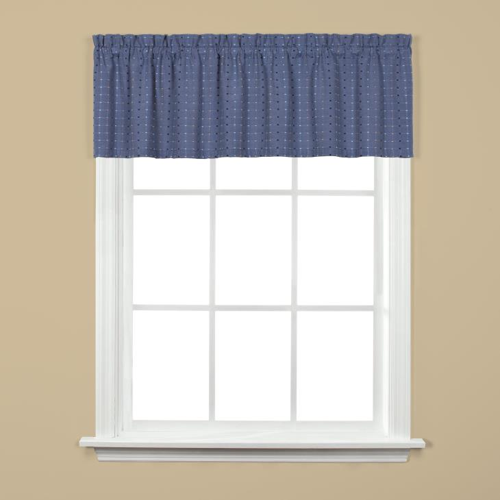 "Picture of Hopscotch 13"" Window Valance in Denim"