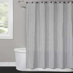 Image of Hopscotch Shower Curtain in Gray