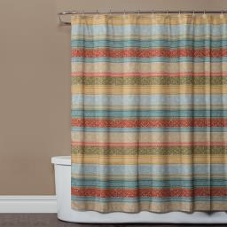 Image of Kochi Stripe Fabric Shower Curtain