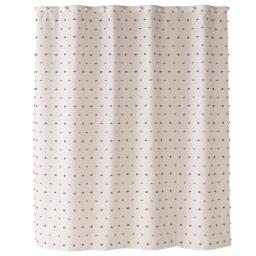 Image of Colorful Dot Shower Curtain in Pink